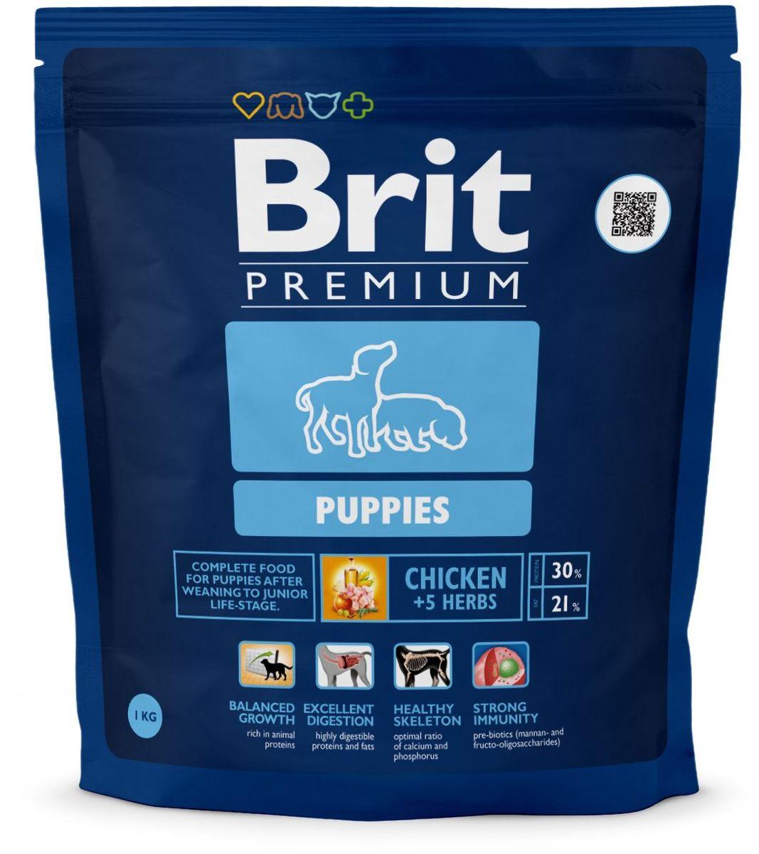Корм сухой Brit Premium Puppies, для щенков всех пород, с курицей и травами, 1 кг132352Высококачественный корм Brit Premium Puppies является полнорационным кормом для щенков всех пород в период перехода с материнского молока на полнорационные корма. 4-8 недель для средних пород (10-25 кг); 4-16 недель для крупных пород (25-45 кг); 4-16 недель для очень крупных пород (45-90 кг). Рекомендуется также для беременных и кормящих сук. Состав: мука из мяса курицы (45%), рис, кукуруза, куриный жир (консервированный токоферолами), масло лосося, пивные дрожжи, натуральные ароматизаторы, сушеные яблоки, минеральные вещества, экстракт из трав и фруктов (300 мг/кг), мананоолигосахариды (150 мг/кг), фруктоолигосахариды (100 мг/кг), экстракт юкки шидигеры (80 мг/кг), органическая Е4 медь, органический Е6 цинк, органический селен. Пищевая ценность: сырой протеин - 30%, сырой жир - 21%, влага - 10%, сырая зола - 6,5%, сырая клетчатка - 2%, кальций - 1,5%, фосфор - 1,1%. Пищевые добавки на 1 кг: витамин А - 20000 МЕ, витамин D3 - 1900 МЕ, витамин Е - 600 мг, железо - 80 мг, цинк - 70 мг, марганец - 36 мг, медь - 20 мг, йод - 0,65 мг, селен - 0,2 мг. Энергетическая ценность: 4518 ккал/кг. Товар сертифицирован.