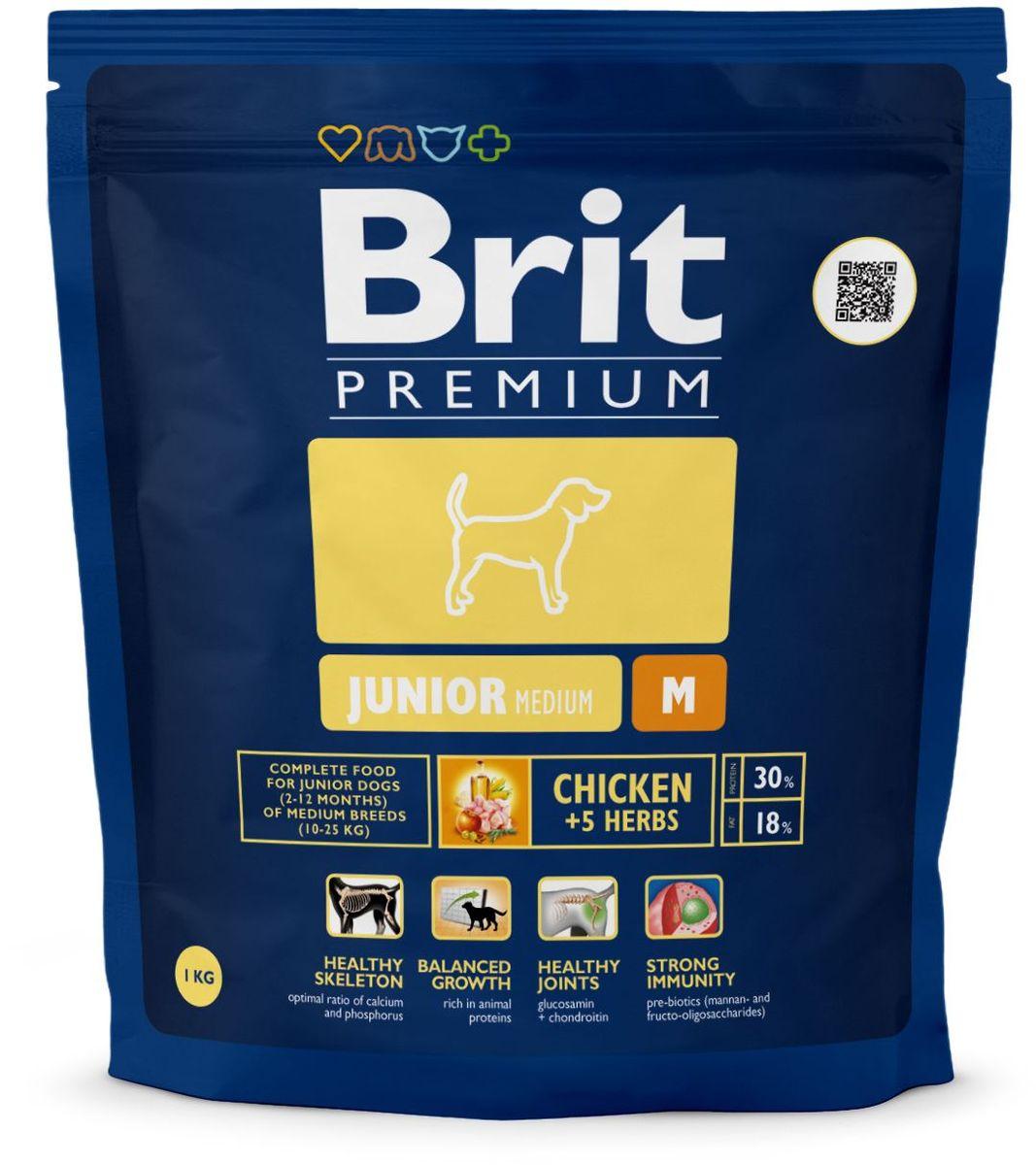 Корм сухой Brit Premium Junior M для молодых собак средних пород от 2 до 12 месяцев, с курицей, 1 кг132353Высококачественный корм Brit Premium Junior M является полнорационным кормом для щенков и молодых собак (2-12 месяцев) средних пород (10-25 кг). Как правило, собаки средних пород - рабочие собаки. Для активно работающих собак очень важно иметь правильное пищеварение и здоровый пищеварительный тракт, что в полной мере может обеспечить баланс клетчатки и пребиотиков, который оптимален в кормах Brit. Содержание Омега-3 и Омега-6 жирных кислот способствует правильному развитию и деятельности головного мозга, что особенно важно для собак рабочих пород, т.к. они должны иметь высокую способность к быстрому обучению. Жирные кислоты так же поддерживают отличное состояние кожи и шерсти, способствует скорейшему заживлению ран и восстановлению после травм, а входящие в состав активные антиоксиданты, поддерживают развитие деятельности иммунной системы. Средние породы склонны к ожирению, поэтому для них необходим оптимальный баланс протеинов и жиров. Состав: мука из мяса курицы (42%), рис, кукуруза, пшеница, куриный жир (консервированный токоферолами), масло лосося, пивные дрожжи, натуральные ароматизаторы, сушеные яблоки, минеральные вещества, экстракт из трав и фруктов (300 мг/кг), глюкозамина гидрохлорид (260 мг/кг), хондроитина сульфат (160 мг/кг), мананоолигосахариды (150 мг/кг), фруктоолигосахариды (100 мг/кг), экстракт юкки шидигеры (80 мг/кг), органическая медь, органический цинк, органический селен. Пищевая ценность: сырой протеин - 30%, сырой жир - 18%, влага - 10%, сырая зола - 6,3%, сырая клетчатка - 2,4%, кальций - 1,5%, фосфор - 1%. Пищевые добавки на 1 кг: витамин А - 20000 МЕ, витамин D3 - 1900 МЕ, витамин Е (а-токоферол) - 600 мг, Е1 железо - 80 мг, Е6 цинк - 70 мг, Е5 марганец - 36 мг, Е4 медь - 20 мг, Е2 йод - 0,65 мг, Е8 селен - 0,2 мг. Энергетическая ценность: 4329 ккал/кг. Товар сертифицирован.