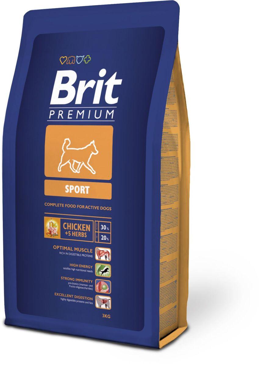 Корм сухой Brit Premium Sport для активных собак всех пород, с курицей и травами, 3 кг502516Сухой корм Brit Premium Sport - полнорационный сбалансированный корм для взрослых собак с повышенными физическими нагрузками: - Рабочие породы собак: ездовые, охотничьи, охранные, гончие. - Все породы собак, восстанавливающиеся после болезни или операции. Состав: мука из мяса курицы (45%), рис, кукуруза, пшеница, куриный жир (консервированный токоферолами), масло лосося, пивные дрожжи, натуральные ароматизаторы, экстракт из трав и фруктов (300 мг/кг), сушеные яблоки, минеральные вещества, мананоолигосахариды (150 мг/кг), фруктоолигосахариды (100 мг/кг), экстракт юкки шидигеры (80 мг/кг), органическая Е4 медь, органический Е6 цинк, органический селен. Аналитические составляющие: сырой протеин 30,0%, сырой жир 20,0%, влага 10,0%, сырая зола 6,8%, сырая клетчатка 2,2%, кальций 1,6%, фосфор 1,2%.Пищевые добавки (на 1 кг): витамин A 15 000 МЕ, витамин D3 1 500 МЕ, витамин E (альфа-токоферол) 500 мг, Е1 железо 80 мг, Е6 цинк 70 мг, Е5 марганец 36 мг, Е4 медь 20 мг, Е2 йод 0,65 мг, Е8 селен 0,2 мг. Энергетическая ценность: 4382 ккал/кг. Товар сертифицирован.