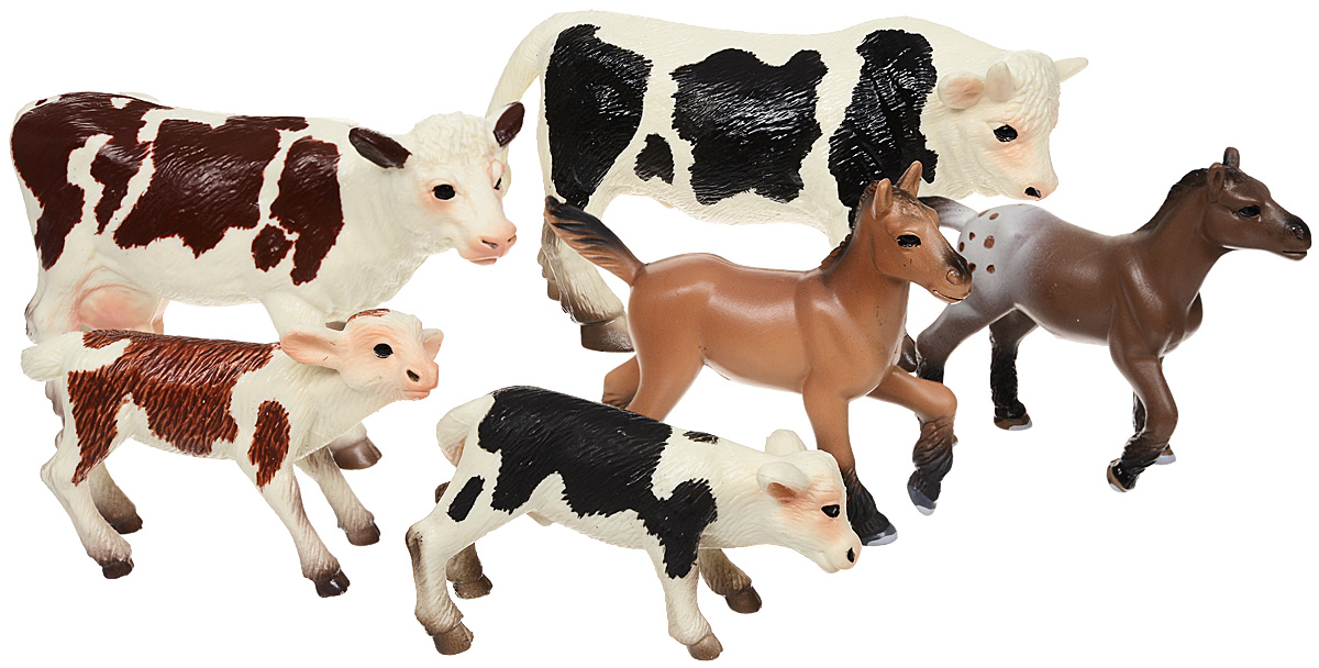 Wenno Набор фигурок Животные Европейской фермы игровые фигурки goki фигурки животные фермы деревья