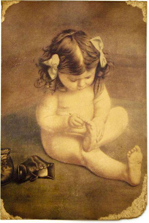 Открытка Девочка с занозой. Авторская работа. Д3Д3