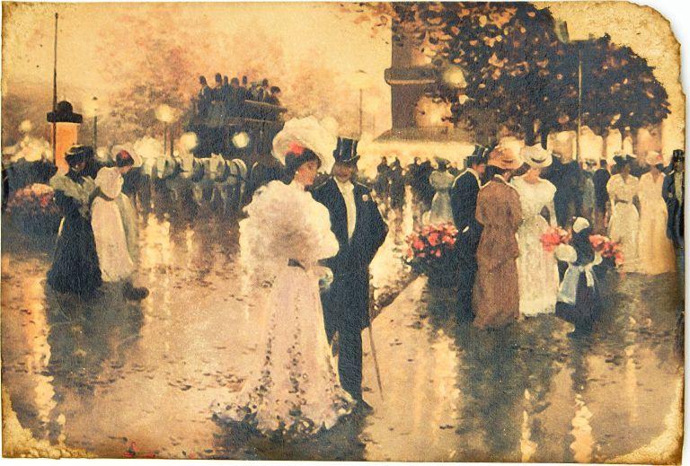 Открытка Свадьба в Париже. Авторская работа. П2П2