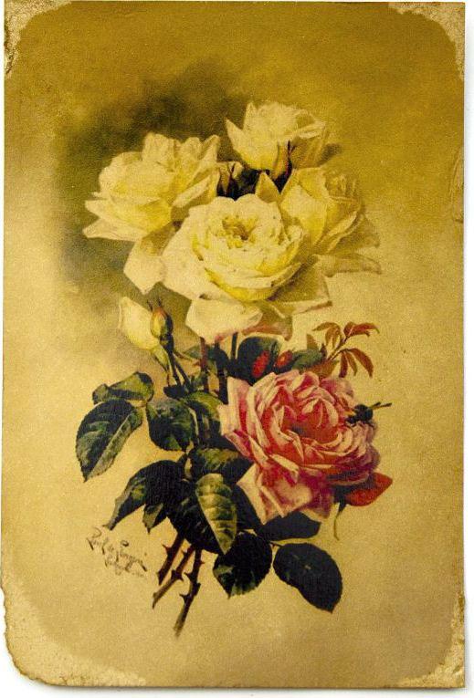 Открытка Букет из роз. Авторская работа. Ц9Ц9