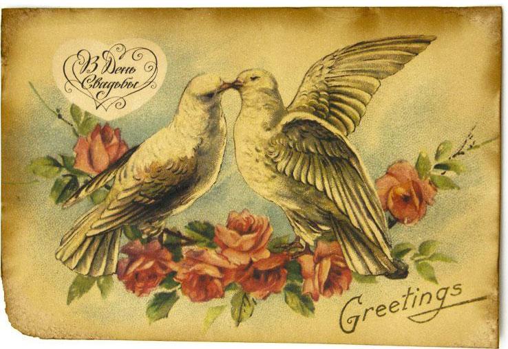 Открытка свадебная голубки, день ветеринары онлайн