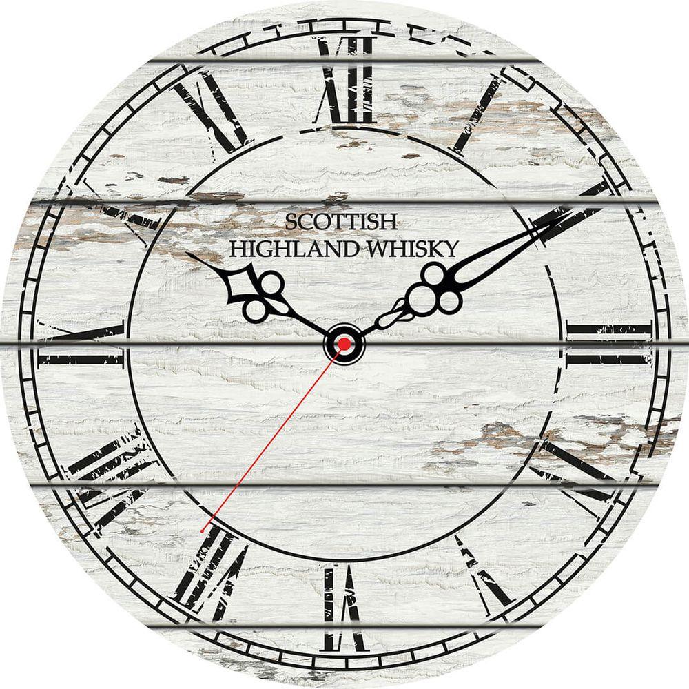 Часы настенные Postermarket, цвет: белый, диаметр 30 см. CL-01CL-01Стильные настенные часы на стекле в индивидуальной упаковке.