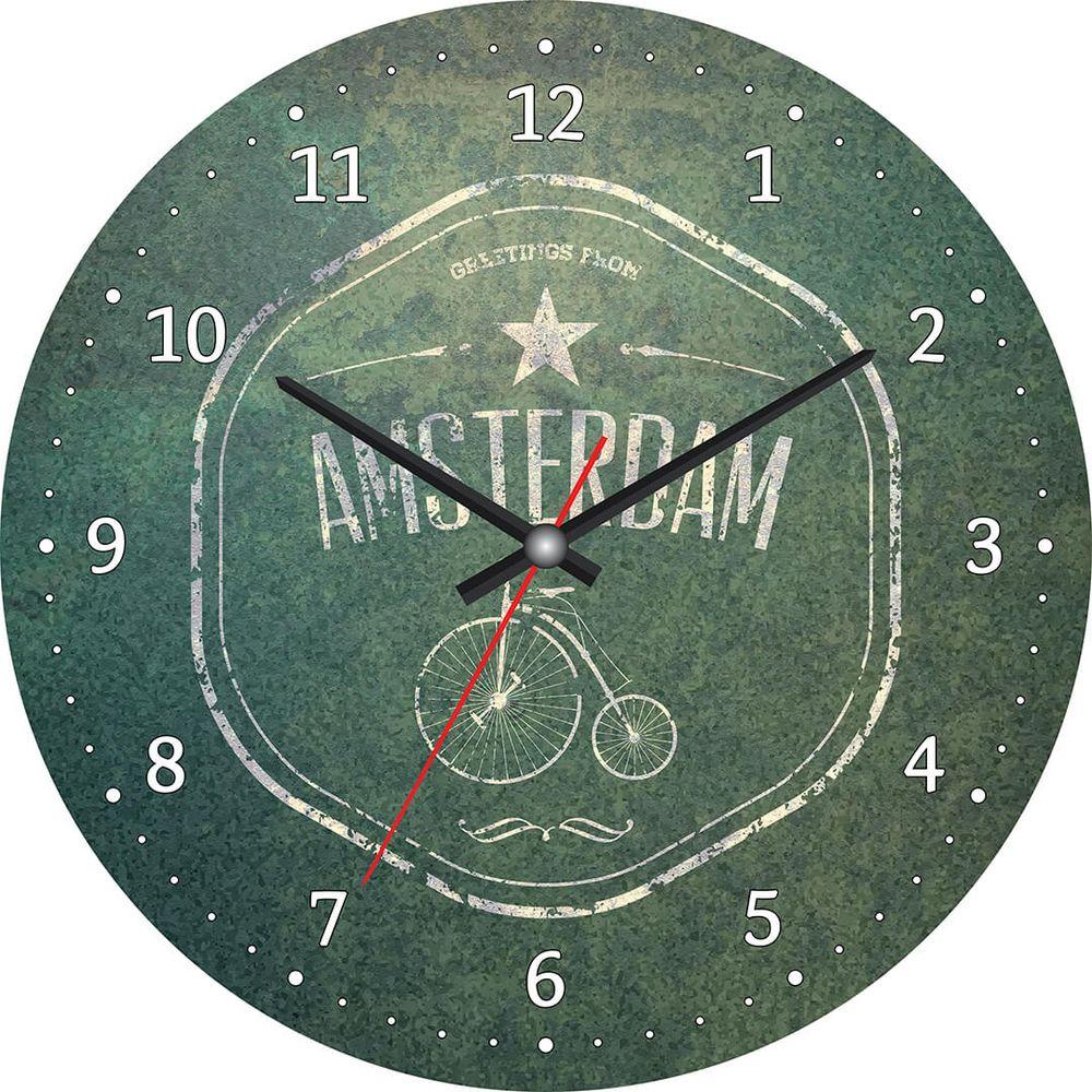 Часы настенные Postermarket, цвет: зеленый, диаметр 30 см. CL-03CL-03Стильные настенные часы на стекле в индивидуальной упаковке.