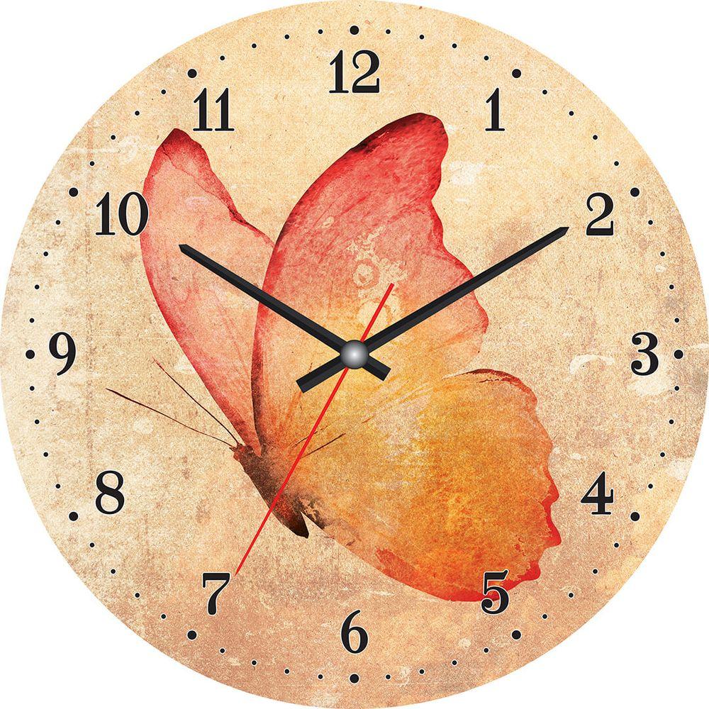 Часы настенные Postermarket, цвет: бежевый, диаметр 30 см. CL-04CL-04Стильные настенные часы Postermarket станут изюминкой в дизайне интерьера вашего дома. Корпус часов выполнен из стекла с декоративным покрытием. Часы имеют три стрелки - часовую, минутную и секундную. Часовой механизм сзади закрыт пластиковым корпусом. Кварцевые часы работают от сменной батареи.Диаметр: 30 см.