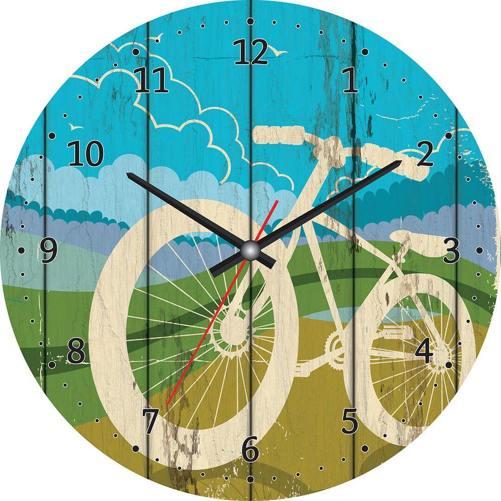 Часы настенные Postermarket, цвет: синий, зеленый, диаметр 30 см. CL-05CL-05Стильные настенные часы Postermarket станут изюминкой в дизайне интерьера вашего дома. Корпус часов выполнен из стекла с декоративным покрытием. Часы имеют три стрелки - часовую, минутную и секундную. Часовой механизм сзади закрыт пластиковым корпусом.Кварцевые часы работают от сменной батареи. Диаметр: 30 см.