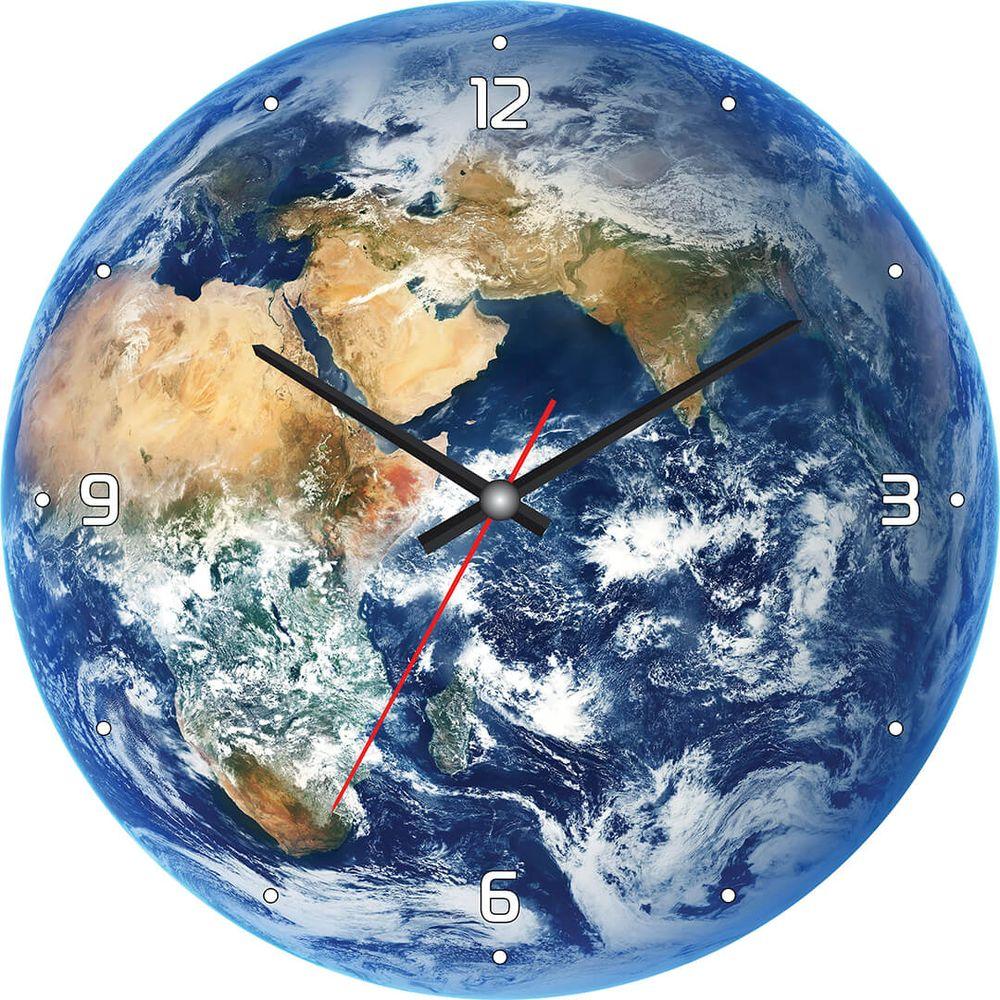 Часы настенные Postermarket, цвет: синий, диаметр 30 см. CL-07CL-07Стильные настенные часы на стекле в индивидуальной упаковке.