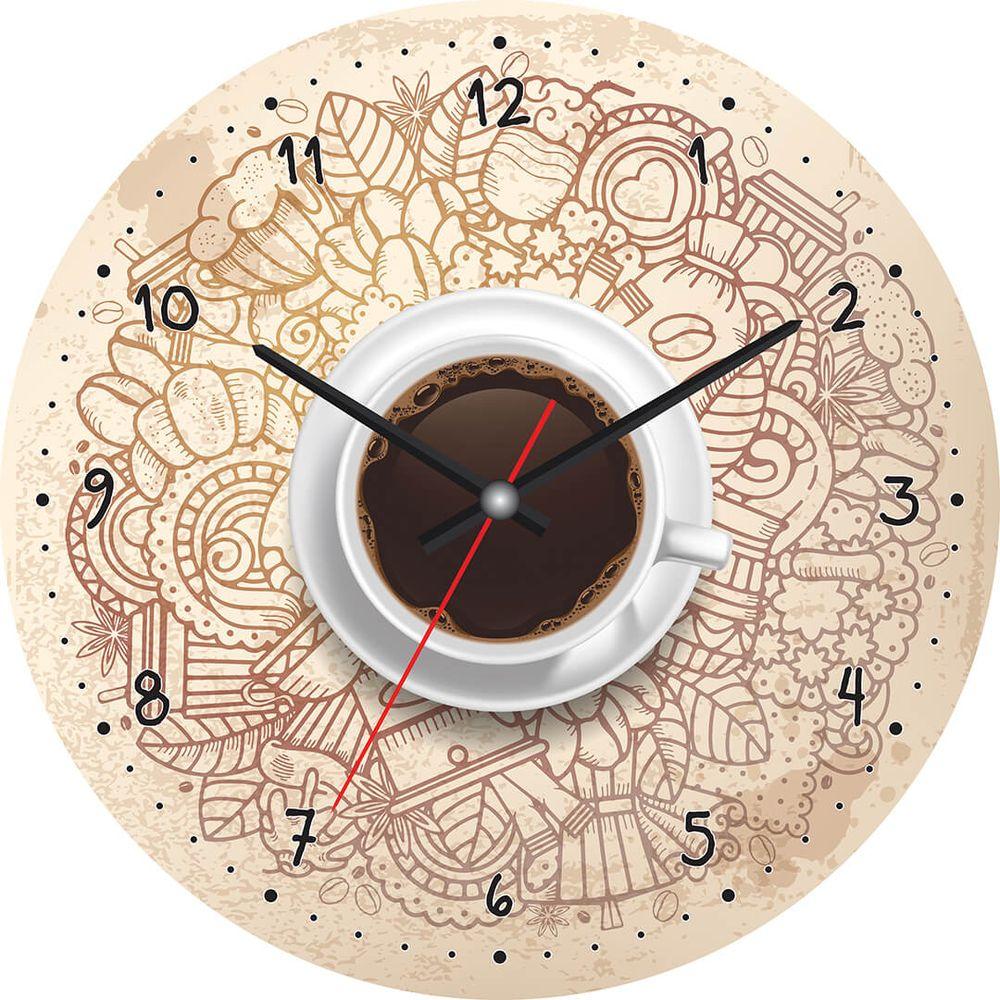 Часы настенные Postermarket, цвет: бежевый, диаметр 30 см. CL-11CL-11Стильные настенные часы на стекле в индивидуальной упаковке.