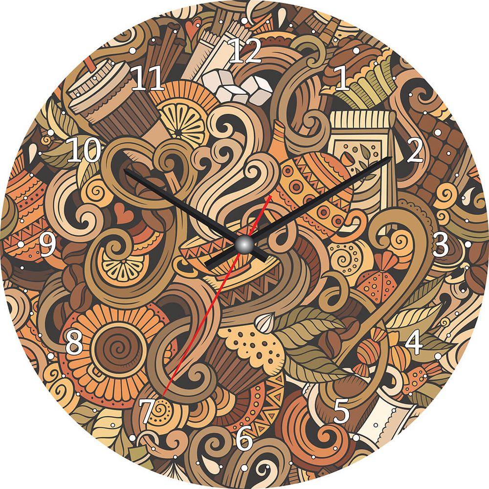 Часы настенные Postermarket, цвет: коричневый, диаметр 30 см. CL-13CL-13Стильные настенные часы Postermarket станут изюминкой в дизайне интерьера вашего дома. Корпус часов выполнен из стекла с декоративным покрытием. Часы имеют три стрелки - часовую, минутную и секундную. Часовой механизм сзади закрыт пластиковым корпусом. Кварцевые часы работают от сменной батареи.Диаметр: 30 см.