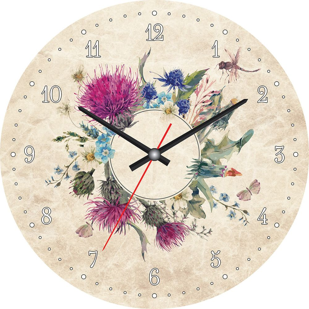 Часы настенные Postermarket, цвет: бежевый, диаметр 30 см. CL-15CL-15Стильные настенные часы Postermarket станут изюминкой в дизайне интерьера вашего дома. Корпус часов выполнен из стекла с декоративным покрытием. Часы имеют три стрелки - часовую, минутную и секундную. Часовой механизм сзади закрыт пластиковым корпусом.Кварцевые часы работают от сменной батареи. Диаметр: 30 см.