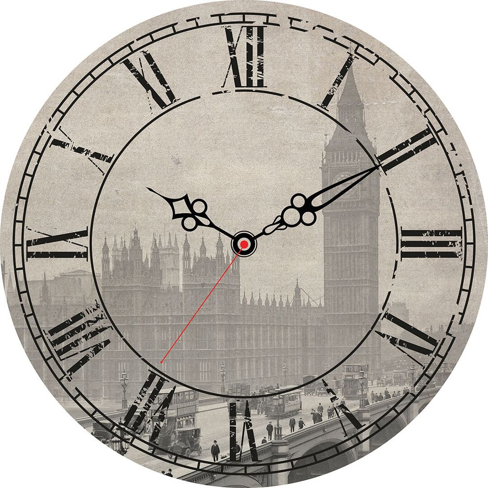 Часы настенные Postermarket, цвет: серый, диаметр 30 см. CL-16CL-16Стильные настенные часы Postermarket станут изюминкой в дизайне интерьера вашего дома. Корпус часов выполнен из стекла с декоративным покрытием. Часы имеют три стрелки - часовую, минутную и секундную. Часовой механизм сзади закрыт пластиковым корпусом. Кварцевые часы работают от сменной батареи.Диаметр: 30 см.
