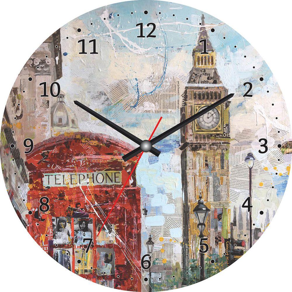 Часы настенные Postermarket, цвет: бело-голубой, диаметр 30 см. CL-17CL-17Стильные настенные часы Postermarket станут изюминкой в дизайне интерьера вашего дома. Корпус часов выполнен из стекла с декоративным покрытием. Часы имеют три стрелки - часовую, минутную и секундную. Часовой механизм сзади закрыт пластиковым корпусом.Кварцевые часы работают от сменной батареи. Диаметр: 30 см.