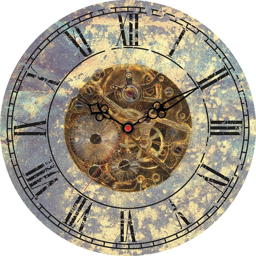 Часы настенные Postermarket, цвет: бело-голубой, диаметр 30 см. CL-18CL-18Стильные настенные часы Postermarket станут изюминкой в дизайне интерьера вашего дома. Корпус часов выполнен из стекла с декоративным покрытием. Часы имеют три стрелки - часовую, минутную и секундную. Часовой механизм сзади закрыт пластиковым корпусом. Кварцевые часы работают от сменной батареи.Диаметр: 30 см.