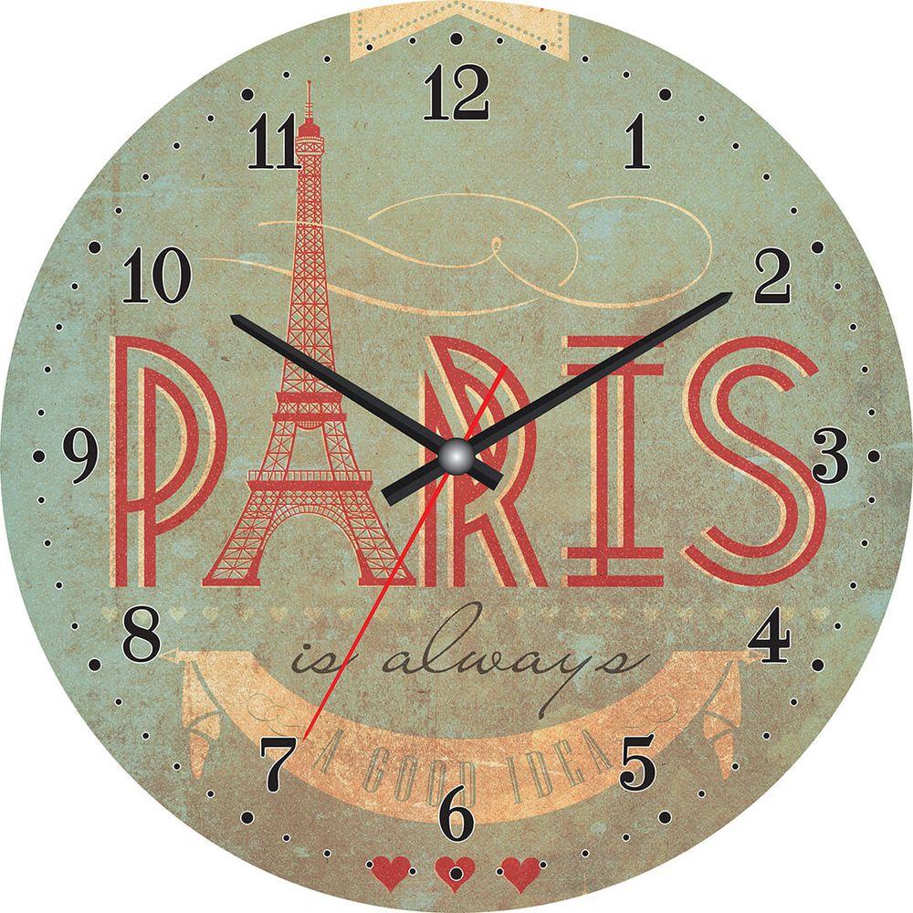 Часы настенные Postermarket, цвет: зеленый, диаметр 30 см. CL-19CL-19Стильные настенные часы Postermarket станут изюминкой в дизайне интерьера вашего дома. Корпус часов выполнен из стекла с декоративным покрытием. Часы имеют три стрелки - часовую, минутную и секундную. Часовой механизм сзади закрыт пластиковым корпусом. Кварцевые часы работают от сменной батареи.Диаметр: 30 см.