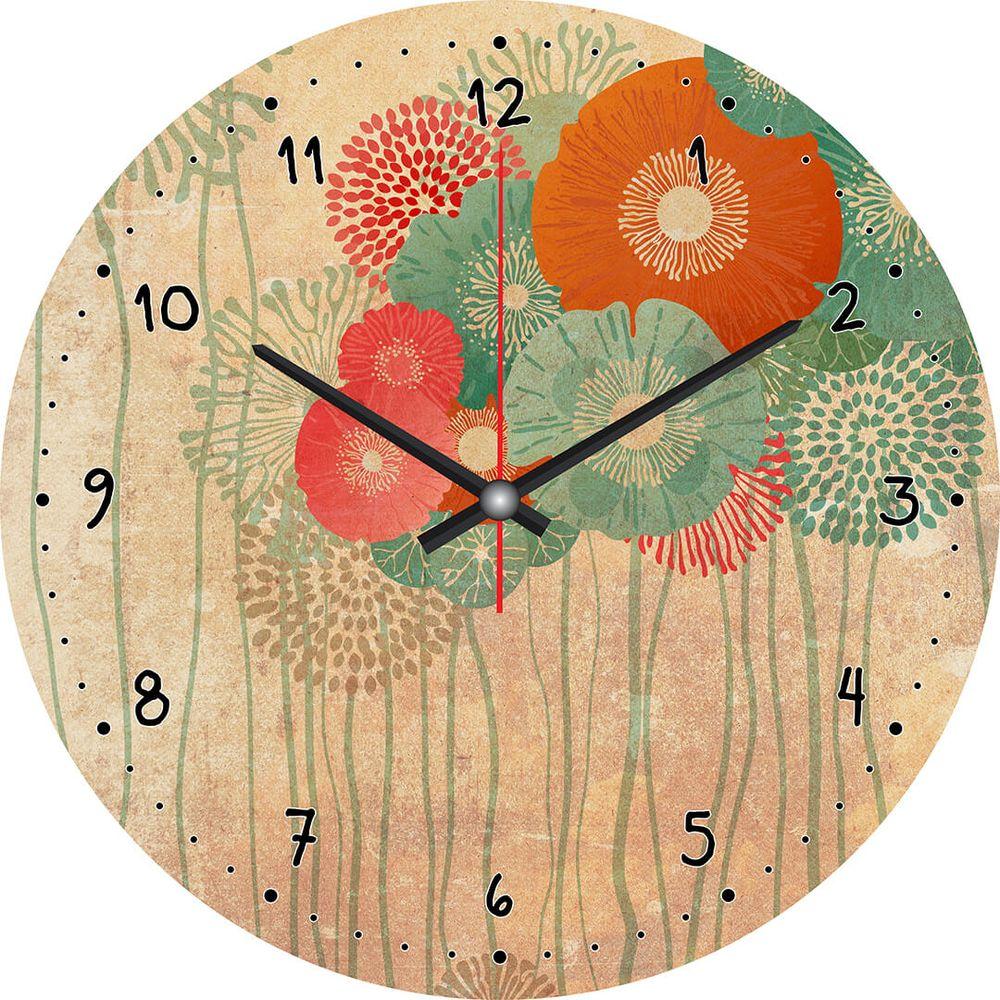 Часы настенные Postermarket, цвет: оранжевый, диаметр 30 см. CL-22CL-22Стильные настенные часы Postermarket станут изюминкой в дизайне интерьера вашего дома. Корпус часов выполнен из стекла с декоративным покрытием. Часы имеют три стрелки - часовую, минутную и секундную. Часовой механизм сзади закрыт пластиковым корпусом.Кварцевые часы работают от сменной батареи. Диаметр: 30 см.