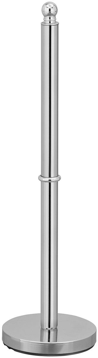 Держатель для туалетной бумаги Tatkraft Ideal, напольный, для 4 рулонов, цвет: серый металлик, 14 x 51 см держатель для туалетной бумаги wonder worker hold цвет серый металлик 15 5 x 13 5 x 5 4 см