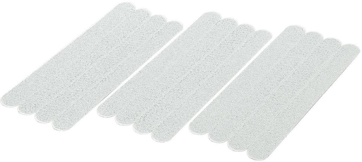 """Tatkraft """"Keep"""" - противоскользящие наклейки для ванной и душа, выполненные из ПВХ. Можно так же использовать в бассейнах, на лестницах и в других скользких местах. Набор состоит из 12 полосок (2 x 20 см каждая)."""