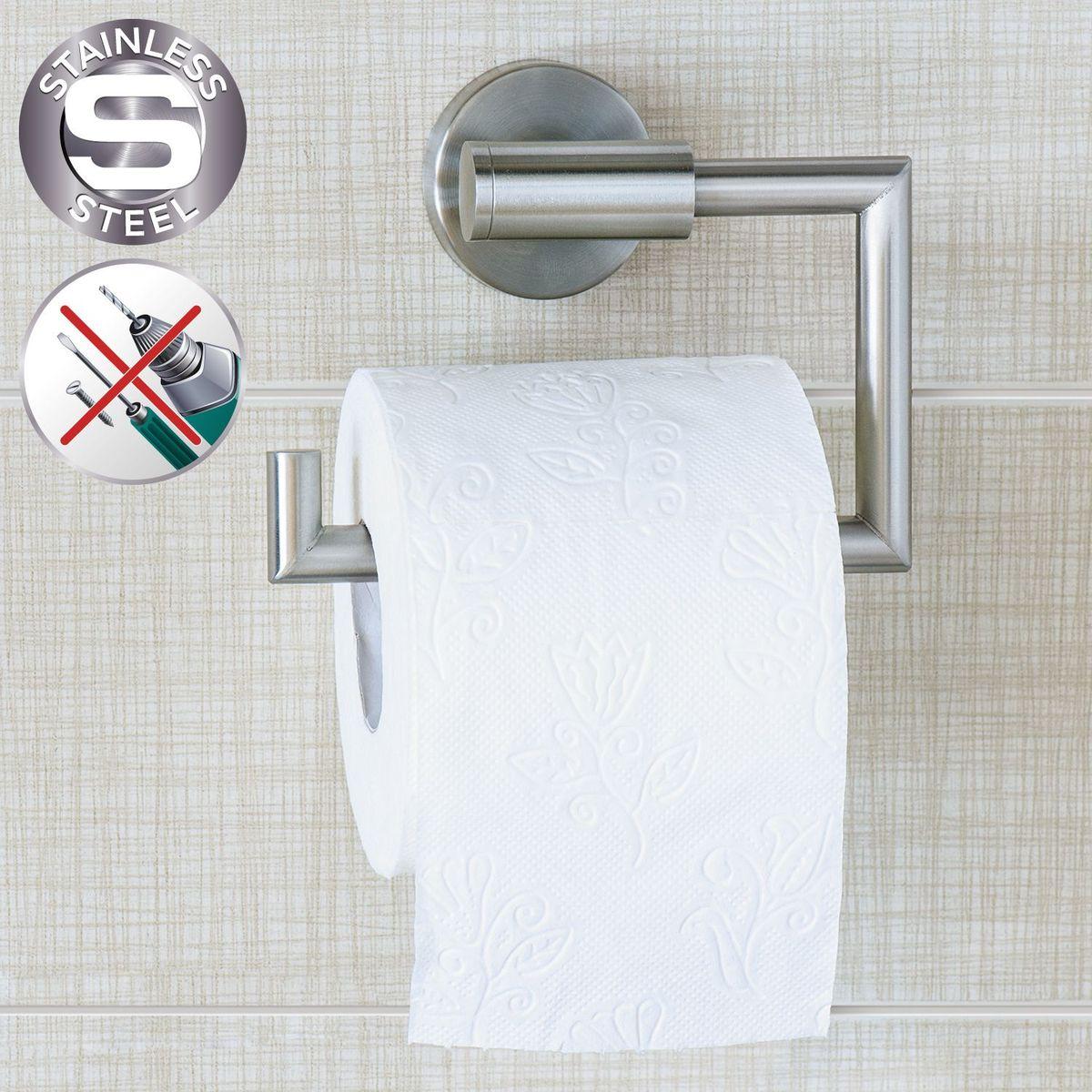"""Держатель для туалетной бумаги Wonder Worker """"Hold"""" выполнен из нержавеющей стали. Он крепится на шурупы или на клей.Размер: 15,5 x 13,5 x 5,4 см."""