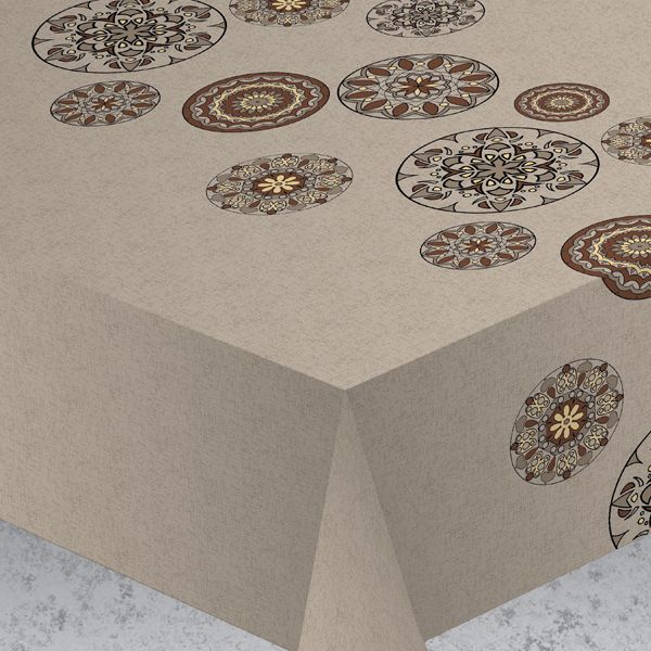 """Эксклюзивная и стильная скатерть Protec Textil """"Alba. Вагнер"""" состоит на 80% из хлопка и на 20% из полиэстера. Специальная обработка придает ткани термостойкость и влагоустойчивость. Технология производства изделий отвечает новейшим европейским стандартам. Полотна отличаются высочайшими качественными характеристиками: высокими показателями износостойкости, цветостойкости и цветопередачи, прочности ткани на разрыв, низкими показателями истираемости полотна при многократном использовании изделия. Скатерть обладает высокой плотностью, не скользит и не перемещается на поверхности стола, легко протирается влажной тканью, возможна деликатная стирка при температуре не выше 30 градусов.  Скатерть Protec Textil"""" Alba. Вагнер"""" - это тренд современной хозяйки, которая предпочитает стиль и качество в сочетании с практичностью. Размер: 140 х 220см."""