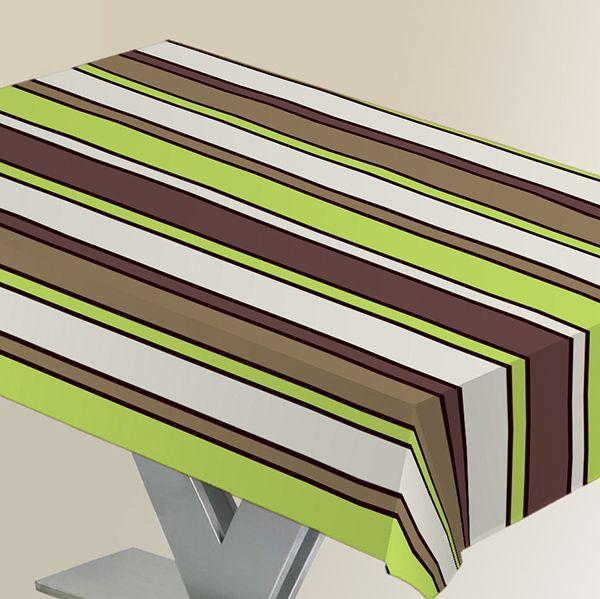 Скатерть Protec Textil Alba. Линии, прямоугольная, цвет: зеленый, 120 х 140 см6119Эксклюзивная и стильная скатерть Protec Textil состоит на 80% из хлопка и на 20% из полиэстера. Специальная обработка придает ткани термостойкость и влагоустойчивость. Технология производства изделий отвечает новейшим европейским стандартам. Полотна отличаются высочайшими качественными характеристиками: высокими показателями износостойкости, цветостойкости и цветопередачи, прочности ткани на разрыв, низкими показателями истираемости полотна при многократном использовании изделия.Скатерть обладает высокой плотностью, не скользит и не перемещается на поверхности стола, легко протирается влажной тканью, возможна деликатная стирка при температуре не выше 30 градусов. Коллекция скатертей Alba - это тренд современной хозяйки, которая предпочитает стиль и качество в сочетании с практичностью.