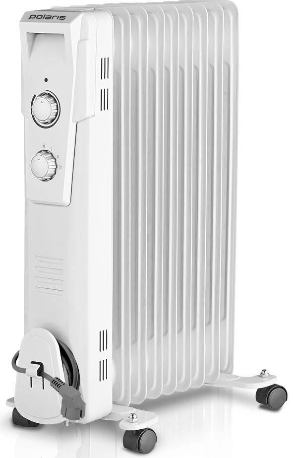 Polaris PRE G 1025 масляный радиатор006628Масляный радиатор Polaris PRE G 1025 обладает всеми теми характеристиками, которые позволяют эффективно обогревать помещения в холодное время года. Внутри данной модели обогревателя расположены ТЭНы, которые прогревают минеральное масло до высоких температур. Это позволяет нагреть 10 металлических секций и обеспечить нужный температурный режим в помещении площадью до 25 квадратных метров. Следует отметить, что такой обогреватель на протяжении определенного времени отдает тепло даже после отключения питания.Масляный радиатор Polaris PRE G 1025 оснащен регулируемым термостатом, который дает возможность поддерживать в обогреваемом помещении заданную температуру. Для этого достаточно медленно повернуть регулятор термостата против часовой стрелки ровно до того момента, когда погаснет индикатор. Как только температура в помещении понизится, устройство автоматически включится и снова деактивируется при достижении необходимого температурного режима.Удобство использования обогревателя PRE G 1025 обеспечивает удобная ручка и колесики, которые помогут перемещать устройство по дому, вне зависимости от напольного покрытия. Хранение данного масляного радиатора существенно упрощает устройство, предназначенное для намотки сетевого шнура.Система безопасности автоматические отключает радиатор Polaris PRE G 1025 в случае его перегрева.