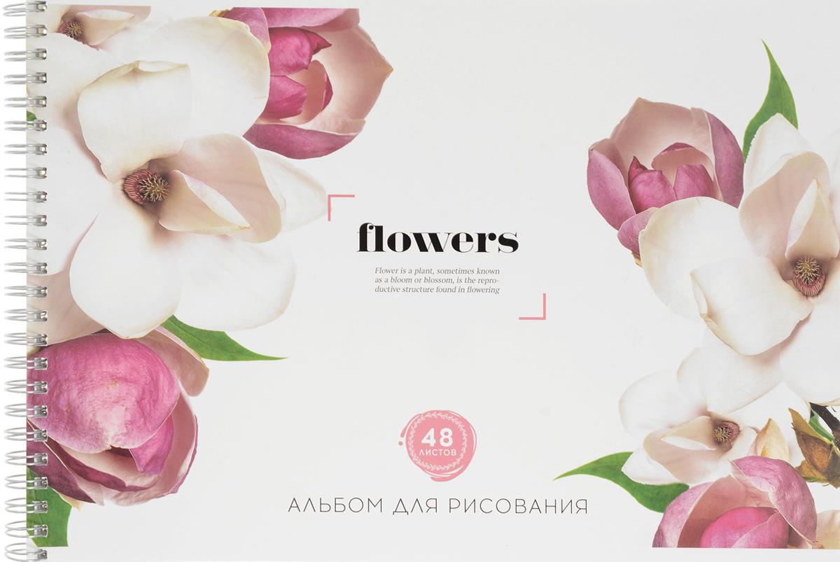 ArtSpace Альбом для рисования Цветы Flowers 48 листовА48спТЛ_9201Альбом для рисования ArtSpace Цветы. Flowers порадует маленького художника и вдохновит его на творчество.Альбом изготовлен из белоснежной бумаги с яркой обложкой.Внутренний блок альбома состоит из 48 листов. Высокое качество бумаги позволяет рисовать в альбоме карандашами, фломастерами, акварельными и гуашевыми красками.