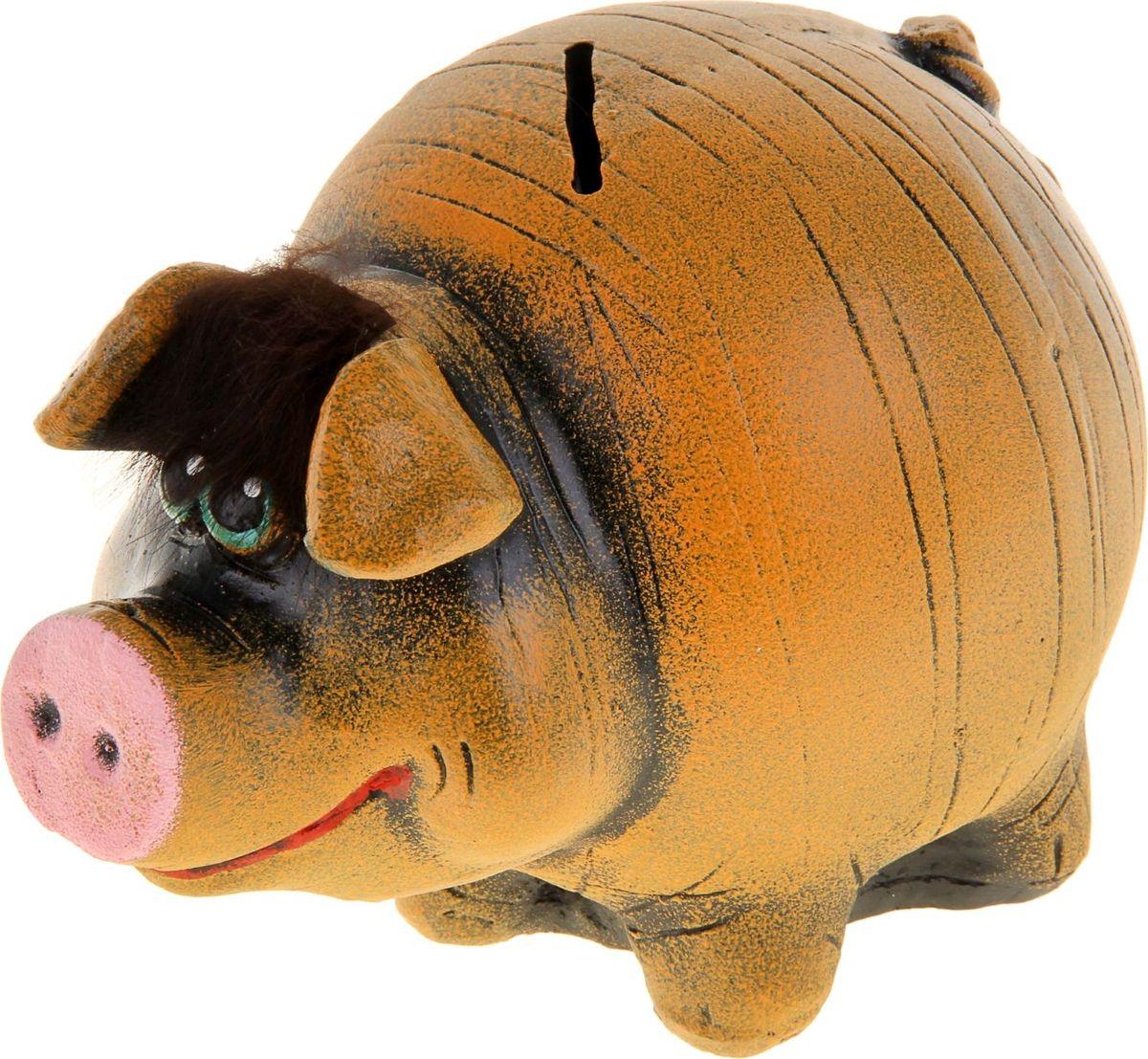 Копилка Кабан, цвет: коричневый, 10 х 12 х 23 см1023908Копилка — универсальный вариант подарка любому человеку, ведь каждый из нас мечтает о какой-то дорогостоящей вещи и откладывает или собирается откладывать деньги на её приобретение. Вместительная копилка станет прекрасным хранителем сбережений и украшением интерьера. Она выглядит так ярко и эффектно, что проходя мимо, обязательно захочется забросить пару монет.Обращаем ваше внимание, что копилка является одноразовой.