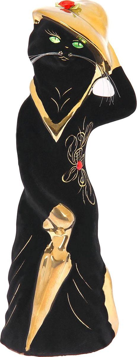 Копилка Керамика ручной работы Барышня в шляпе, 10 х 12 х 35 см1093877Женщины любят баловать себя покупками для красоты и здоровья. С помощью такой копилки можно незаметно приблизиться к приобретению желаемого. Образ кошки всегда олицетворял привлекательность и символизировал домашнее спокойствие. Поставьте изделие возле предметов роскоши, и оно будет способствовать их преумножению.Обращаем ваше внимание, что копилка является одноразовой.