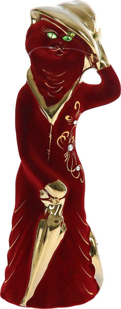 Копилка Керамика ручной работы Барышня в шляпе, 10 х 10 х 35 см1129337Женщины любят баловать себя покупками для красоты и здоровья. С помощью такой копилки можно незаметно приблизиться к приобретению желаемого. Образ кошки всегда олицетворял привлекательность и символизировал домашнее спокойствие. Поставьте изделие возле предметов роскоши, и оно будет способствовать их преумножению.Обращаем ваше внимание, что копилка является одноразовой.