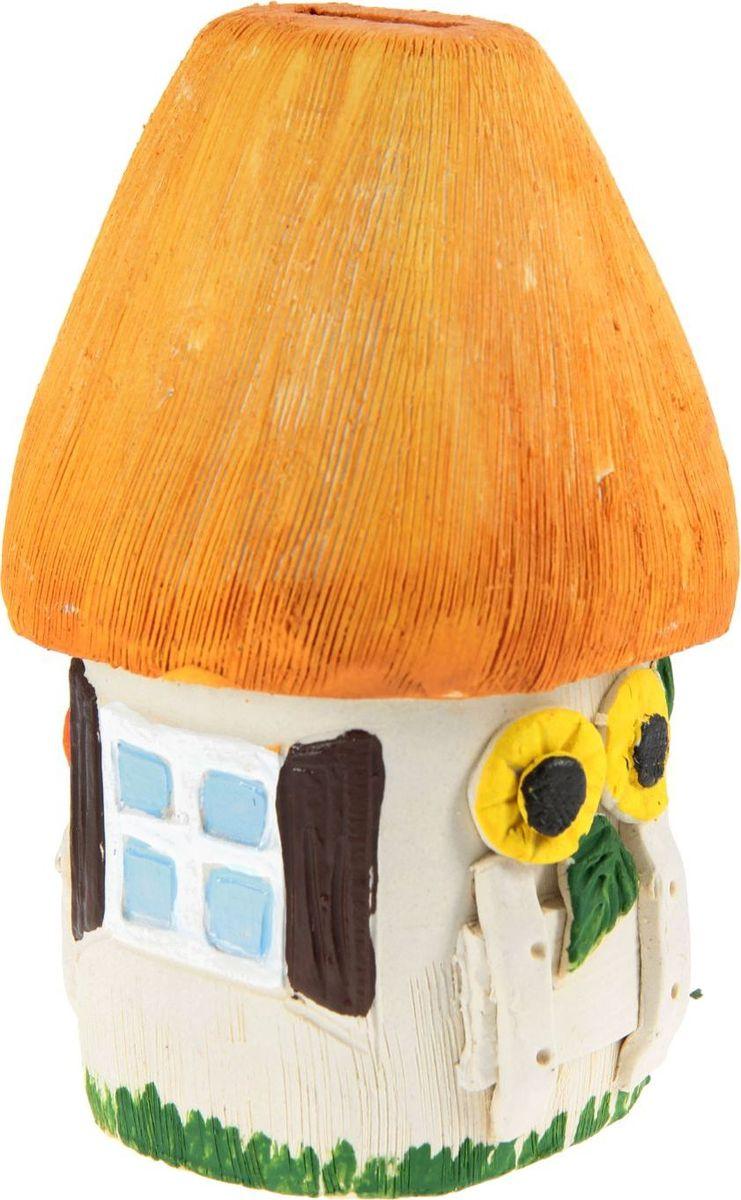 Копилка Керамика ручной работы Дом, 10 х 10 х 18 см1099364Каждая хозяйка знает, что в ведении домашнего хозяйства важную роль играет умение накапливать средства.Поставьте копилку на видное место, и она не только будет хранить деньги, но и станет стильным элементом интерьера.Обращаем ваше внимание, что копилка является одноразовой.