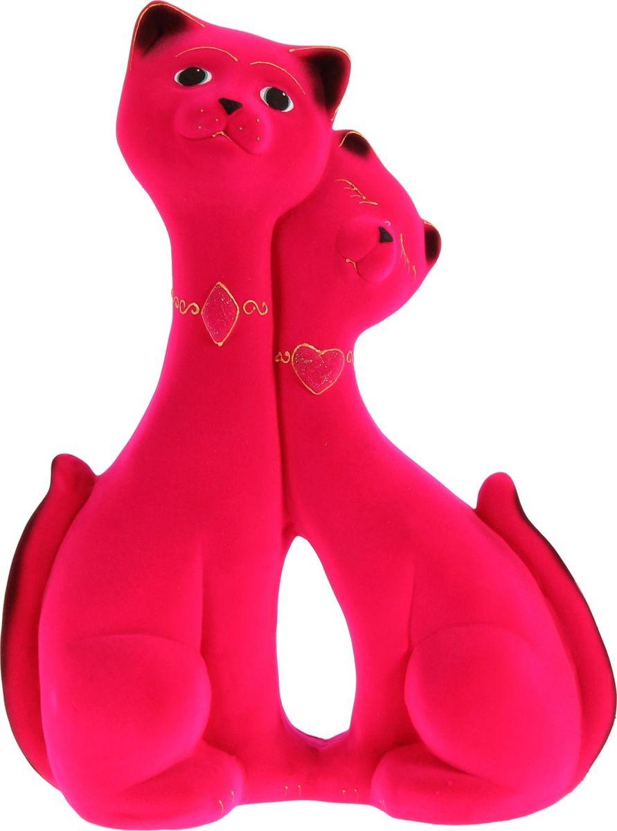 Копилка Керамика ручной работы Влюбленная пара, цвет: розовый, 12 х 30 х 40 см144253Помните, как порой бывают необходимы не очень большие средства на какое-то нужное и важное дело, но они отсутствуют? Забудьте. В тот момент у вас не было копилки, которая помогла бы в сбережении денег. Изделие в виде котов поспособствует изгнанию злых духов из дома и защищает от сглаза. Кот символизирует домашний уют, тепло семейных отношений, психологический и эмоциональный комфорт.Обращаем ваше внимание, что копилка является одноразовой.