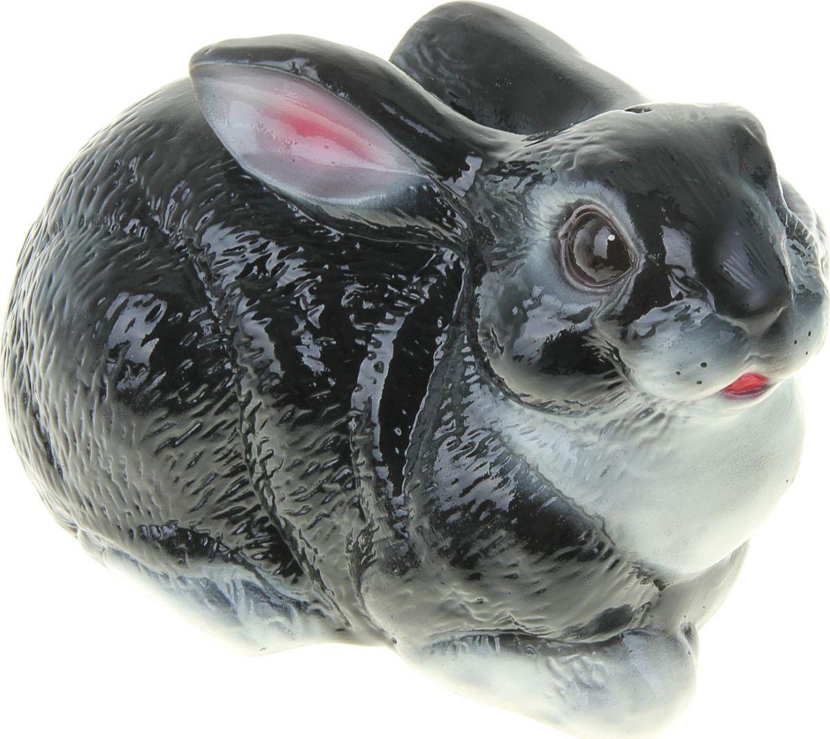 Копилка Керамика ручной работы Заяц, цвет: черный, 29 х 12 х 16 см323252Копилка в виде зайца поможет сберечь финансы будущим родителям, а также притянет удачу в дом молодой семьи. Это животное символизирует плодовитость, возрождение и даже магическую силу. Копилка — подарок, который можно сделать на свадьбу, её годовщину или паре, которая хочет завести ребёнка.Обращаем ваше внимание, что копилка является одноразовой.