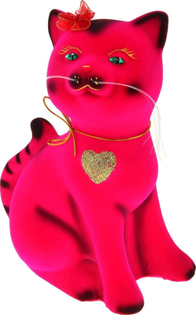 Копилка Керамика ручной работы Василиса, цвет: ярко-розовый, 12 х 12 х 26 см774661Женщины любят баловать себя покупками для красоты и здоровья. С помощью такой копилки можно незаметно приблизиться к приобретению желаемого. Образ кошки всегда олицетворял привлекательность и символизировал домашнее спокойствие. Поставьте изделие возле предметов роскоши, и оно будет способствовать их преумножению.Обращаем ваше внимание, что копилка является одноразовой.