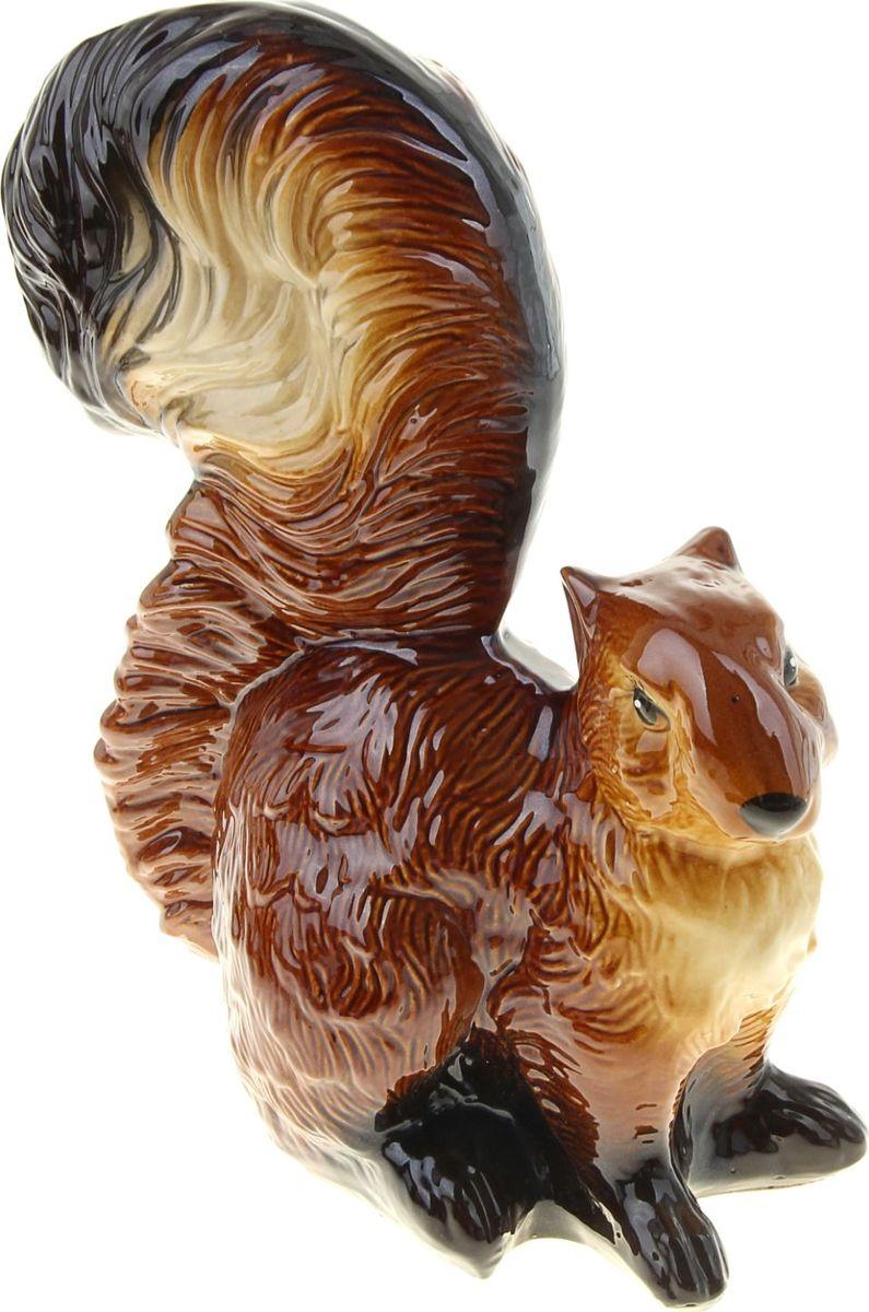 Копилка Керамика ручной работы Белка, 12 х 23 х 35 см911166Оригинальная копилка, выполненная в виде любимого животного, станет необычным украшением интерьера или полезным подарком для любимого человека. С её помощью вы с лёгкостью избавите карманы от мелочи и незаметно для себя приумножите сбережения.Обращаем ваше внимание, что копилка является одноразовой.