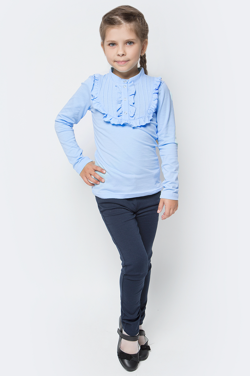 Брюки для девочки Sela, цвет: темно-синий. Pk-615/1014-7320. Размер 140, 10 летPk-615/1014-7320Брюки для девочки Sela выполнены из высококачественного материала. Модель стандартной посадки, пояс имеет шлевки для ремня. Сзади брюки дополнены двумя накладными карманами.