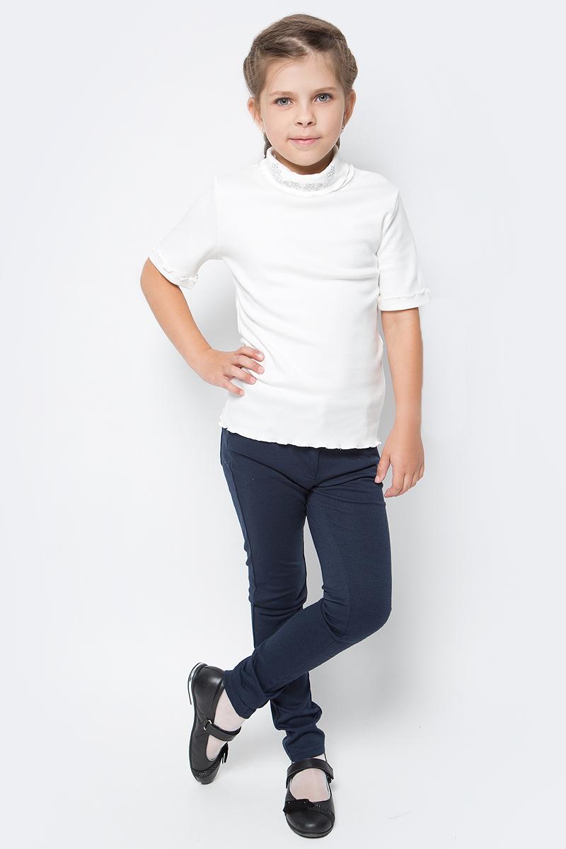 Блузка для девочки Free Age, цвет: молочный. ZG 28079-V2. Размер 140, 9 лет