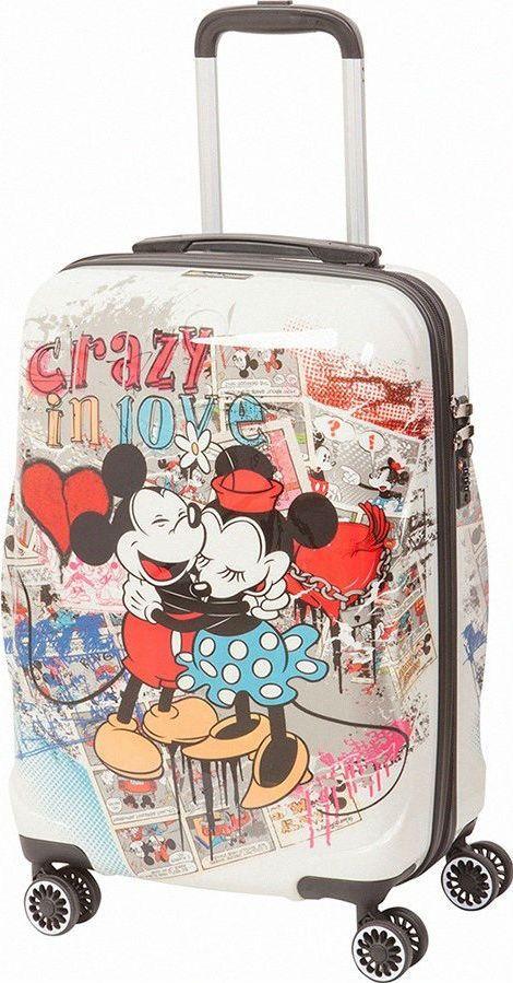Чемодан детский Sun Voyage Disney. Crazy Love, 42 лSV016-AC049-20Детский чемодан Sun Voyage из пластика ABC+PC (поликарбонат), на 4-х колесах, с рисунком Микки и Минни Маус Корпус пластиковый, 4 колеса.Размер: 36 х 57 х 23 см Объем: 42 лВес: 2,7 кгЧемодан изготовлен из супер легкого и прочного пластика ABC, покрытого пленкой из поликарбоната. С чемоданом ничего не случится, даже если на него прыгнет малыш.Удобная выдвижная металлическая ручка фиксируется в трех положениях под разный рост ребенка, она будет комфортна и взрослому и малышу.Есть дополнительная боковая ручка.Большое количество разных по размеру и форме карманов и ремни для фиксации одежды позволят сохранить в багаже чистоту и порядок.Половина чемодана полностью закрывается на молнию, вещи не выпадут при открывании. Вторая половина закрыта перегородкой с легко защелкивающимися фиксаторами.Чемодан легко и бесшумно катится на 4-х прорезиненных колесах с металлическими подшипниками и с поворотом на 360 градусов.Есть боковые ножки.Чемодан оснащен замочком.