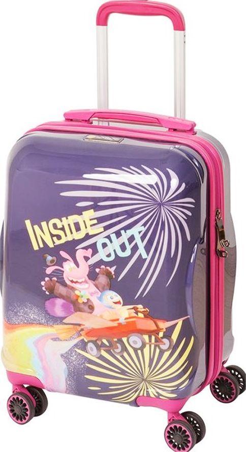Чемодан детский Sun Voyage Disney. Inside Out, 33 лSV017-AC039-16Детский чемодан Sun Voyage из пластика ABC+PC (поликарбонат), на 4-х колесах, с рисунком Наизнанку Корпус пластиковый, 4 колеса.Размер 33x46x24Объем 33 литра.Вес 2,1 кг.Чемодан изготовлен из супер легкого и прочного пластика ABC, покрытого пленкой из поликарбоната. С чемоданом ничего не случится, даже если на него прыгнет малыш.Удобная выдвижная металлическая ручка фиксируется в трех положениях под разный рост ребенка, она будет комфортна и взрослому и малышу.Есть дополнительная боковая ручка.Большое количество разных по размеру и форме карманов и ремни для фиксации одежды позволят сохранить в багаже чистоту и порядок.Половина чемодана полностью закрывается на молнию, вещи не выпадут при открывании. Вторая половина закрыта перегородкой с легко защелкивающимися фиксаторами.Чемодан легко и бесшумно катится на 4-х прорезиненных колесах с металлическими подшипниками и с поворотом на 360 градусов.Есть боковые ножки.Чемодан оснащен замочком.