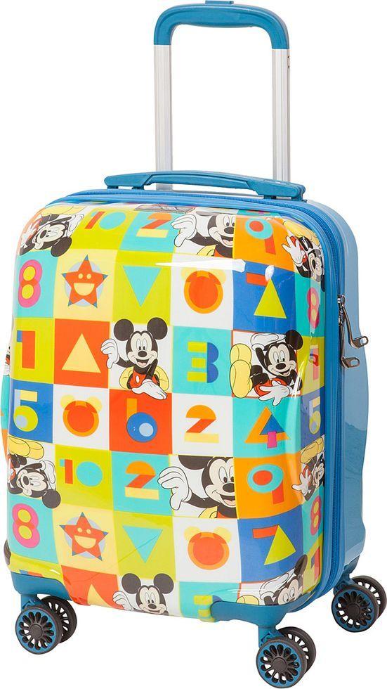 Чемодан детский Sun Voyage Disney. Micky, 33 лSV017-AC046-16Детский чемодан Sun Voyage из пластика ABC+PC (поликарбонат), на 4-х колесах, с рисунком Микки МаусКорпус пластиковый, 4 колеса. Размер 33x46x24 Объем 33 литра. Вес 2,1 кг. Чемодан изготовлен из супер легкого и прочного пластика ABC, покрытого пленкой из поликарбоната. С чемоданом ничего не случится, даже если на него прыгнет малыш. Удобная выдвижная металлическая ручка фиксируется в трех положениях под разный рост ребенка, она будет комфортна и взрослому и малышу. Есть дополнительная боковая ручка. Большое количество разных по размеру и форме карманов и ремни для фиксации одежды позволят сохранить в багаже чистоту и порядок. Половина чемодана полностью закрывается на молнию, вещи не выпадут при открывании. Вторая половина закрыта перегородкой с легко защелкивающимися фиксаторами. Чемодан легко и бесшумно катится на 4-х прорезиненных колесах с металлическими подшипниками и с поворотом на 360 градусов. Есть боковые ножки. Чемодан оснащен замочком.