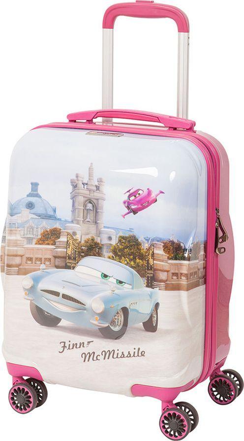 Чемодан детский Sun Voyage Disney. Finn McMissile, на колесах, цвет: розовый, 33 лSV017-AC048-16Детский чемодан Sun Voyage из пластика, на 4-х колесах, с рисунком ТачкиЧемодан изготовлен из супер легкого и прочного пластика ABC, покрытого пленкой из поликарбоната. С чемоданом ничего не случится, даже если на него прыгнет малыш. Удобная выдвижная металлическая ручка фиксируется в трех положениях под разный рост ребенка, она будет комфортна и взрослому, и малышу. Есть дополнительная боковая ручка. Большое количество разных по размеру и форме карманов и ремни для фиксации одежды позволят сохранить в багаже чистоту и порядок. Половина чемодана полностью закрывается на молнию, вещи не выпадут при открывании. Вторая половина закрыта перегородкой с легко защелкивающимися фиксаторами. Чемодан легко и бесшумно катится на 4-х прорезиненных колесах с металлическими подшипниками и с поворотом на 360 градусов. Есть боковые ножки. Вес: 2,1 кг; объем: 33 л.Размер: 33 х 46 х 24 см.