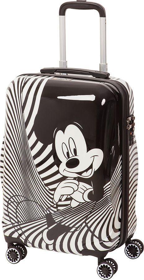Чемодан детский Sun Voyage Disney. Mickey Mouse, на колесах, цвет: черный, белый, 42 л чемодан samsonite чемодан 80 см pro dlx 4