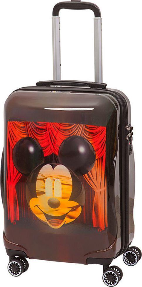Чемодан детский Sun Voyage Disney. Micky&Dali, 42 лSV016-AC051-20Детский чемодан Sun Voyage из пластика ABC+PC (поликарбонат), на 4-х колесах, с рисунком Микки Маус и Дали Корпус пластиковый, 4 колеса.Размер 35x57x23Объем 42 литра.Чемодан изготовлен из супер легкого и прочного пластика ABC, покрытого пленкой из поликарбоната. С чемоданом ничего не случится, даже если на него прыгнет малыш.Удобная выдвижная металлическая ручка фиксируется в трех положениях под разный рост ребенка, она будет комфортна и взрослому и малышу.Есть дополнительная боковая ручка.Большое количество разных по размеру и форме карманов и ремни для фиксации одежды позволят сохранить в багаже чистоту и порядок.Половина чемодана полностью закрывается на молнию, вещи не выпадут при открывании. Вторая половина закрыта перегородкой с легко защелкивающимися фиксаторами.Чемодан легко и бесшумно катится на 4-х прорезиненных колесах с металлическими подшипниками и с поворотом на 360 градусов.Есть боковые ножки.Чемодан оснащен замочком.