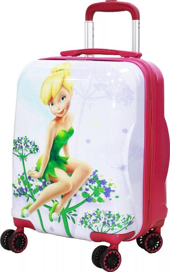 Чемодан детский Sun Voyage Disney. Tinker Bell, 33 лSV017-AC073-16Детский чемодан Sun Voyage из пластика ABC+PC (поликарбонат), на 4 колесах, с рисунком Фея Динь-Динь оценит как ребенок так и его родители.Корпус пластиковый, оснащен 4 колесами для облегчения транспортировки и большей устойчивости. Чемодан изготовлен из супер легкого и прочного пластика ABC, покрытого пленкой из поликарбоната. С чемоданом ничего не случится, даже если на него прыгнет малыш. Удобная выдвижная металлическая ручка фиксируется в трех положениях под разный рост ребенка, что делает его комфортным и для взрослого малыша. В конструкции предусмотрена боковая ручка для преодоления таких препятствий как поребрики, бордюры, лестницы, брусчатка и пр.Большое количество разных по размеру и форме карманов и ремни для фиксации одежды позволят сохранить в багаже чистоту и порядок. Половина чемодана полностью закрывается на молнию, что предотвратит выпадания вещей из открытого чемодана. Вторая половина закрыта перегородкой с легко защелкивающимися фиксаторами. Чемодан легко и бесшумно катится на 4-х прорезиненных колесах с металлическими подшипниками и с поворотом на 360 градусов. Особенности: Есть боковые ножки. Чемодан оснащен замочком.Размер: 33 x 46 x 24 см Объем 33 литра. Вес: 2,1 кг.Как выбрать чемодан. Статья OZON Гид