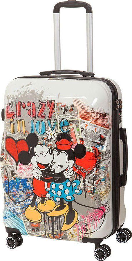 Чемодан детский Sun Voyage Disney. Crazy in Love, на колесах, цвет: мультиколор, 68 л чемодан samsonite чемодан 80 см pro dlx 4