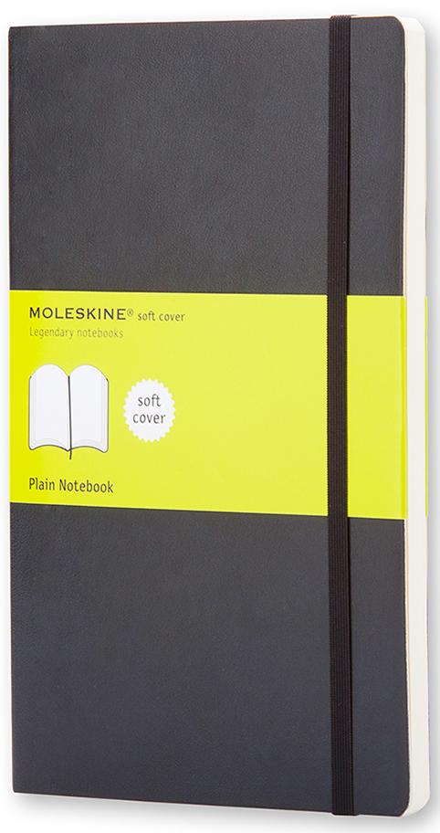 Moleskine Записная книжка Classic Soft Pocket 96 листов без разметки цвет черный385247Эргономичная записная книжка Moleskine Classic в мягкой, но прочной обложке легко помещается в свернутом виде в карман. Она станет надежным спутником в путешествии и идеально подойдет для записи мыслей и заметок. Этот продукт выполнен в шитом переплете с мягкой обложкой со закругленными углами, закладкой, эластичной застежкой и вместительным внутренним карманом, куда вложена карточка с историей Moleskine.