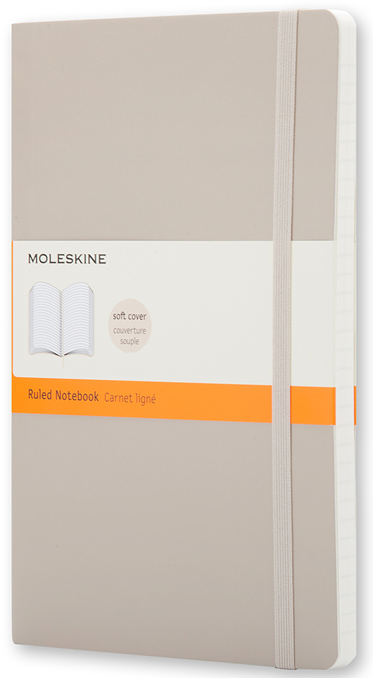 Moleskine Записная книжка Classic Soft Large 96 листов в линейку цвет бежевый levmoon beanbag sofa chair mike seat zac comfort bean bag bed cover without filler cotton indoor beanbag lounge chair shell