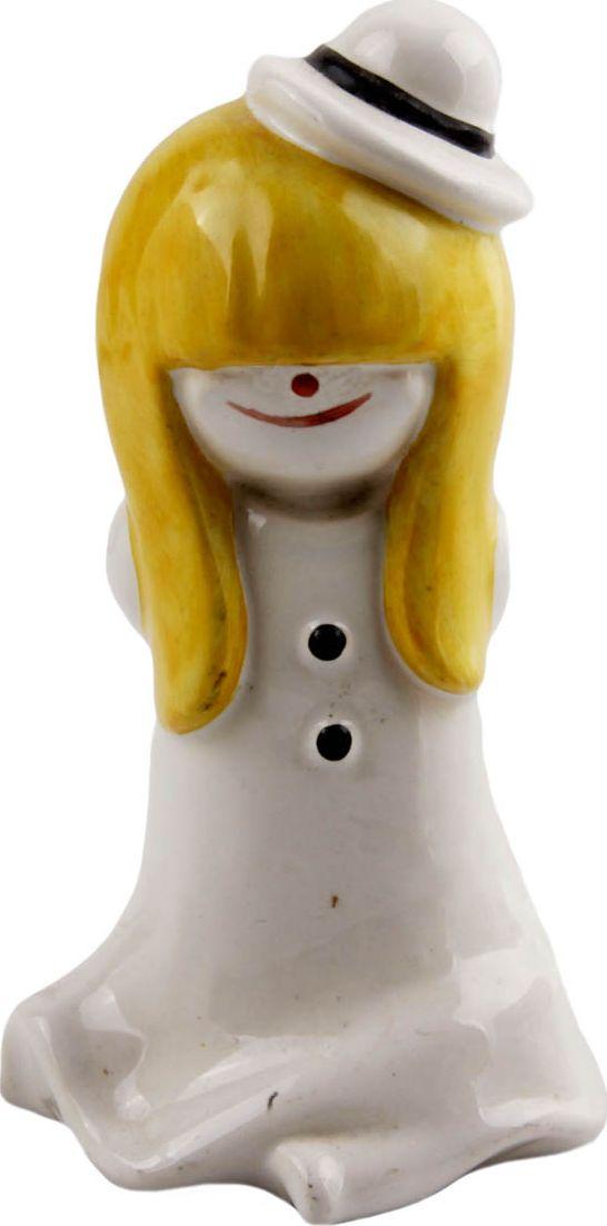 Коллекционная статуэтка Снежная девушка. Фарфор, ручная роспись. Германия, Goebel, конец XX века год.