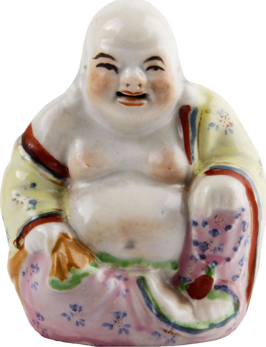 Статуэтка Хотэй. Фарфор, роспись. Китай, конец XX века